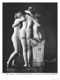 Three Graces, 1812 16 Giclee Print by Antonio Canova