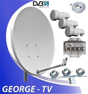 SAT Anlage für 3 Satelliten mit 3 LNB RUSSISCHE TV!!!