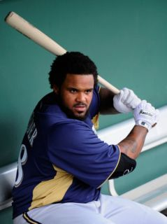 Milwaukee Brewers v San Francisco Giants, SCOTTSDALE, AZ   MARCH 14 Prince Fielder Photographic Print by Kevork Djansezian