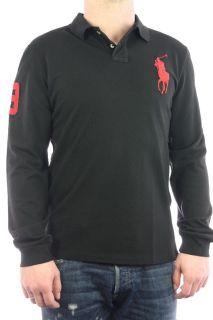 Shirt Longsleeve Big Pony schwarz rot Gr. S 3XL NEU OVP 119€