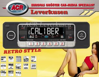 CALIBER RCD110B CD/ RADIO USB, SD KARTE, AUX IN RETRO STYLE BLACK