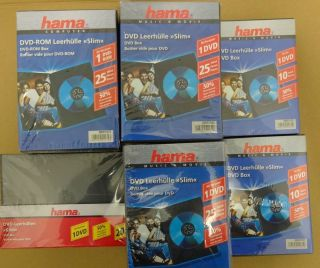 115 Hama DVD Case Single Slim 7mm fuer 1 Disk schwarz Box Leer Huelle