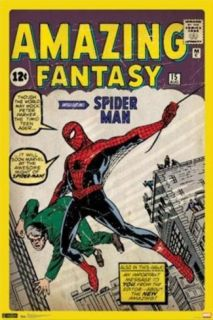 Spider Man Amazing Fantasy 15 Comic Poster Posters
