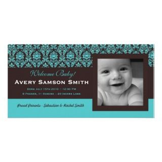 Baby Boy Birth Announcement Photo Card