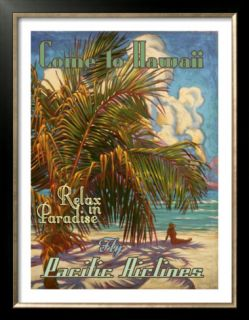 Relax in Hawaii Pacific Airlines Poster by Rick Sharp
