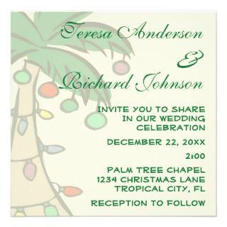 Palm Tree Wedding Invitation by Invitation_Invite