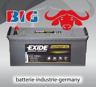 GEL Batterie Exide 12V 120Ah ES1350 G120 Boot Wohnmobil ers. 100 110