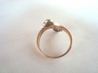 Gold Ring mit weißen Steinchen Herz 333er Goldring Herzchen Herzen