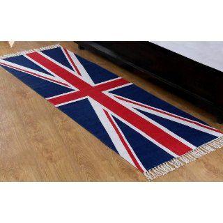 Union Jack Läufer, Teppich 66 x 200 cm, 100 % Baumwolle, Druck