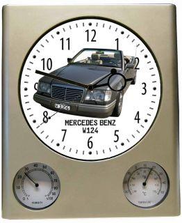 Wanduhr mit Motiv Mercedes Benz 300 W124 Cabrio Uhr