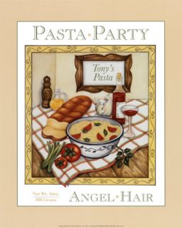 Pasta Party Poster by Menga