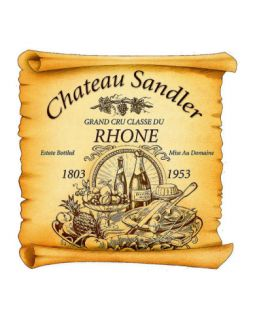 Rhone Wine Label Giclee Print