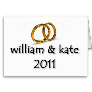 Prince William & Kates Wedding 2011 Greeting Card