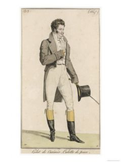 Male Riding Dress 1813 Giclee Print