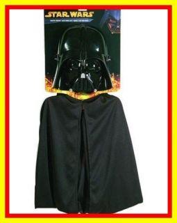Kinder Kostüm Star Wars Darth Vader Maske Cape 116 128