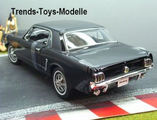 WELLY 07843 1:18 1964 1/2 FORD MUSTANG Coupe schwarz