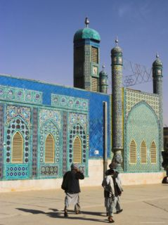 Pilgrims at the Shrine of Hazrat Ali, Mazar I Sharif, Afghanistan Photographic Print by Jane Sweeney