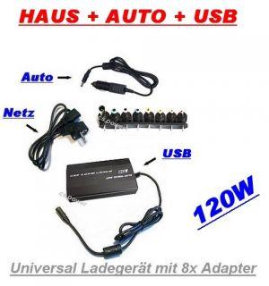 120W* Universal Netz Teil Ladegerät Netzteil für Laptop Notebook