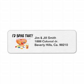 Spike That Punch Return Address Labels