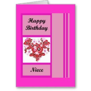 Cards, Note Cards and Happy Birthday Niece Greeting Card Templates