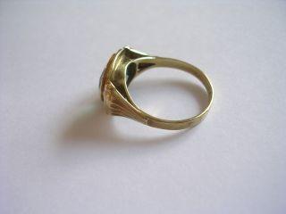 Prachtvoller sehr dekorativer Antiker Ring Gold 333 mit echtem Spinell