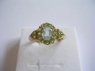 Prachtvoller sehr dekorativer antiker Ring Gold mit Blau Topas und