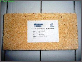 Schamottstein Schamotteplatte 250 x 124 x 30 Schamott