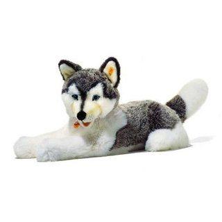 Steiff 104961   Bernie Husky grau/weiss liegend: Spielzeug