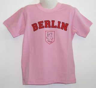 Kinder T shirt * Berlin Rosa 86 bis 128
