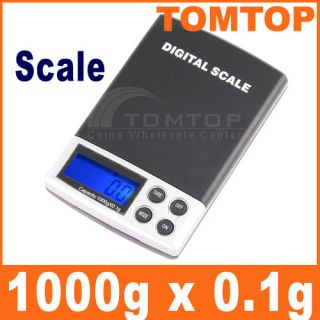 1000g x 0.1g Digital Pocket Scale Jewelry Weight Scale