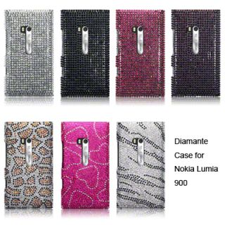 Diamante Case Cover For Nokia Lumia 900 / Full Silver, Pink, Black
