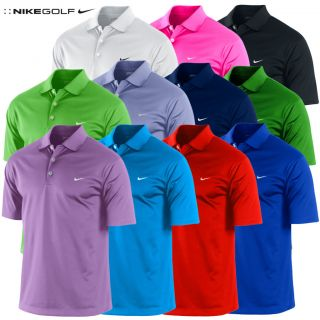 Polohemd Herren 2012 Nike UV Stretch Tech Einfarbig Golf Poloshirt S M