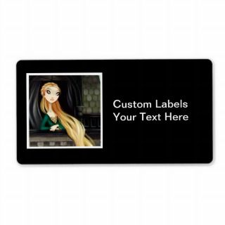Dark Fairy Tale Character 2   Rapunzel Custom Shipping Labels