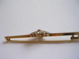 Prachtvolle sehr seltene Jugendstil Brosche GOLD 585 mit Brillanten