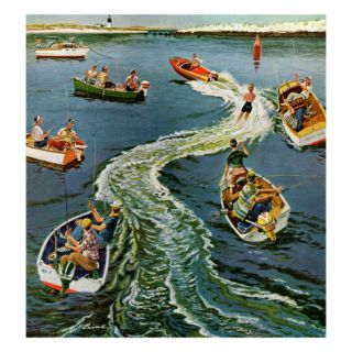 Making a Wake, July 26, 1958 Giclee Print by Ben Kimberly Prins