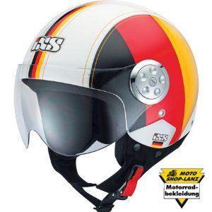 IXS Helm HX134 Jethelm Rollerhelm Motorrad Deutschland schwarz rot