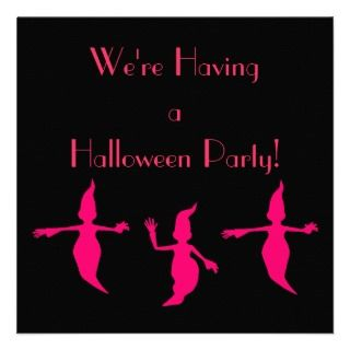 Were Having a Halloween Party Pink Ghosts [a] Announcements
