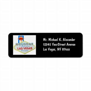 Las Vegas Sign Return Address Labels