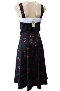 40 JUMPER DRESS KLEID BOW Rock Roll cherries Kirschen Tanzkleid