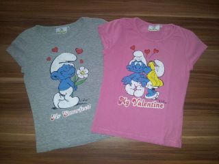 Schlümpfe * Schlumpfine * The Smurfs 2x T Shirt * wNEU * Gr. 146 152