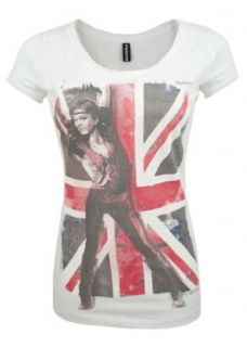 Madonna Fashion Shirt Stars & Stripes Kurzarm Shirt, Flagge mit