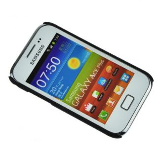 Black Hard Shell Protector Case Cover Skin For Samsung Galaxy Ace Plus