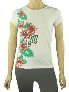 Neill T Shirt Tee Gr.152 weiß Blumendruck Glitzer NEU
