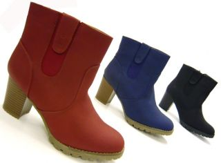 Robuste Damen Stiefelette designer Ancle Boots fashion Stiefel