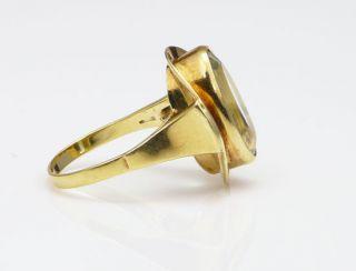 Antikschmuck Gold 585er ART DECO Ring Aquamarin Gelbgold 585