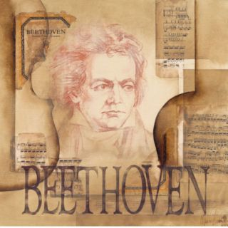Tribute to Beethoven Print by Marie Louise Oudkerk
