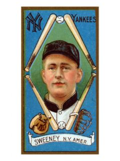 New York City, NY, New York Yankees, Edward Sweeney, Baseball Card Posters