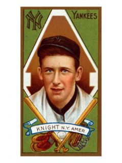 New York City, NY, New York Yankees, Jack Knight, Baseball Card Print