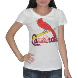 PINK VICTORIAS SECRET Damen MLB St. Louis Cardinals T Shirt / Tee