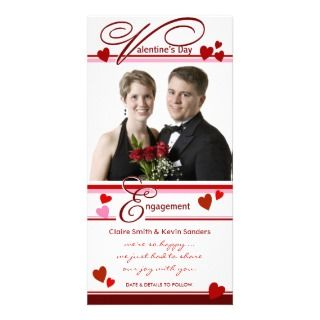 Valentines Day   Engagement Announcement Photo Cards